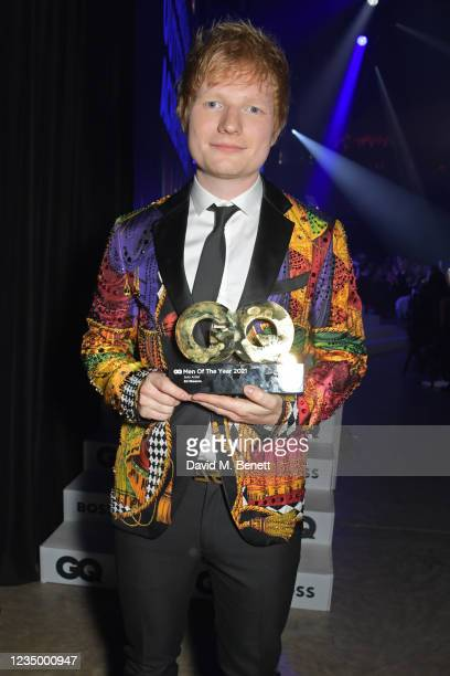 Ed Sheeran, winner of the Solo Artist award, and Stormzy attend the 24th GQ Men of the Year Awards in association with BOSS at Tate Modern on...