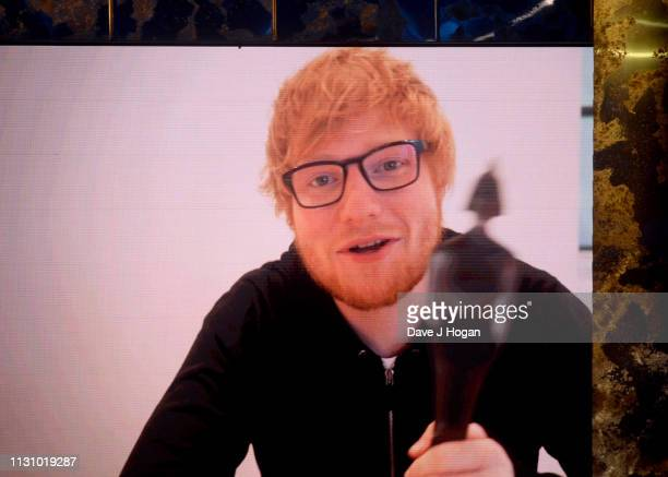 Ed Sheeran wins the Global Success Award at The BRIT Awards 2019 held at The O2 Arena on February 20 2019 in London England