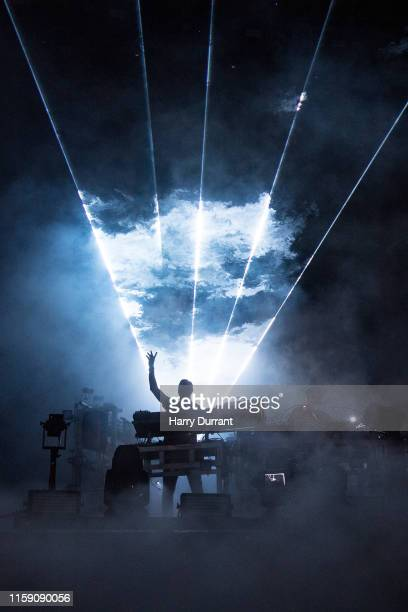 Ed Simons and Tom Rowlands from The Chemical Brothers headline The Other Stage during day four of Glastonbury Festival at Worthy Farm Pilton on June...