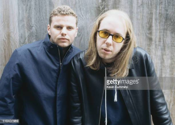 Ed Simons and Tom Rowlands of British dance music duo The Chemical Brothers circa 1995