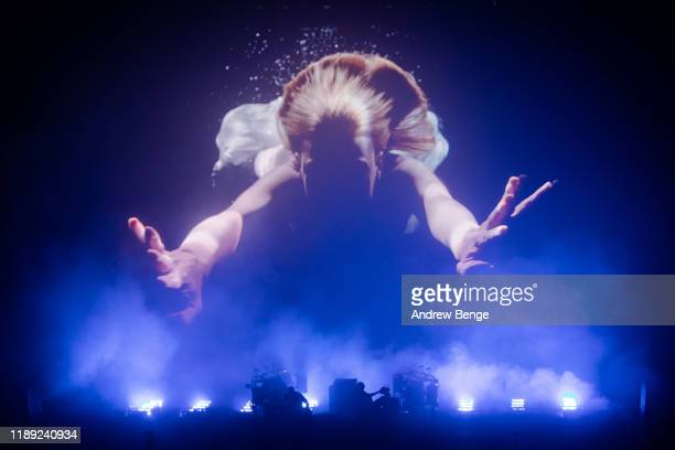 Ed Simons and Tom Rowlands of The Chemical Brothers perform at First Direct Arena on November 21 2019 in Leeds England
