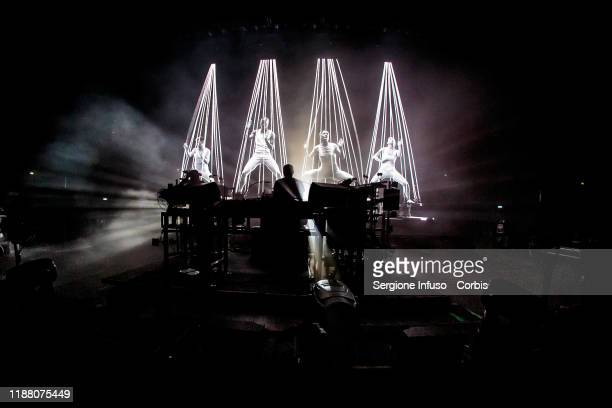 Ed Simons and Tom Rowlands of The Chemical Brothers perform at Mediolanum Forum on November 16 2019 in Milan Italy