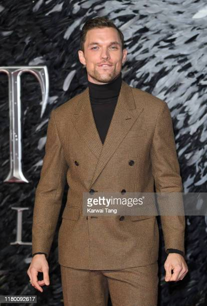 Ed Skrein attends the European premiere of Maleficent Mistress of Evil at Odeon IMAX Waterloo on October 09 2019 in London England