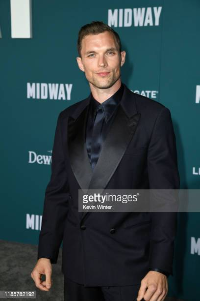 Ed Skrein attends the premiere of Lionsgate's Midway at Regency Village Theatre on November 05 2019 in Westwood California