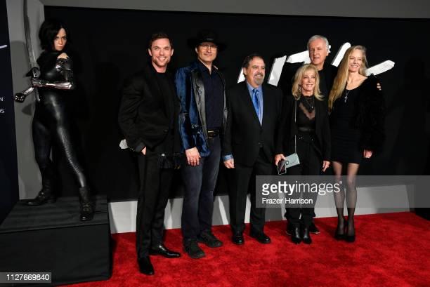Ed Skrein Robert Rodriguez Jon Landau Julie Landau James Cameron and Suzy Amis Cameron attend the premiere of 20th Century Fox's Alita Battle Angel...