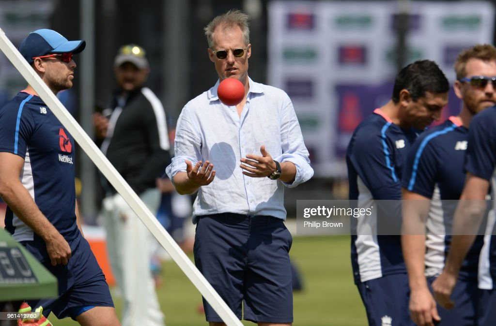 Ed Smith, the national selector during a training session before the 1st Test match between England and Pakistan at Lord's cricket ground on May 22, 2018 in London, England.