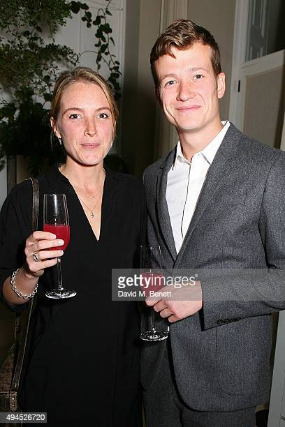 Ed Speleers and Asia Macey attend the COS Dinner At Spring at Spring at Somerset House on October 27 2015 in London England