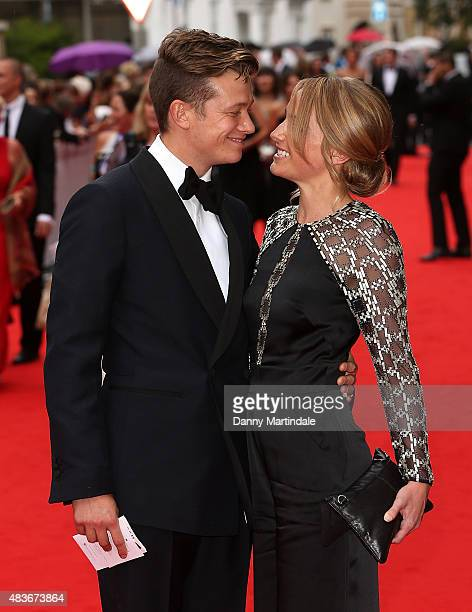 Ed Speleers and guest attend as BAFTA celebrate 'Downton Abbey' at Richmond Theatre on August 11 2015 in Richmond England