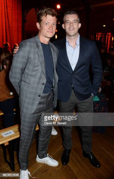Ed Speleers and Russell Tovey both wearing Paul Smith attend the Paul Smith SS19 Menswear Show during Paris Fashion Week at Elysee Montmartre on June...