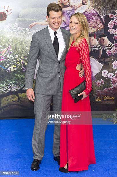 Ed Speleers and wife Asia Macey attend the European film premiere of Alice Through The Looking Glass in London United Kingdom on May 10 2016
