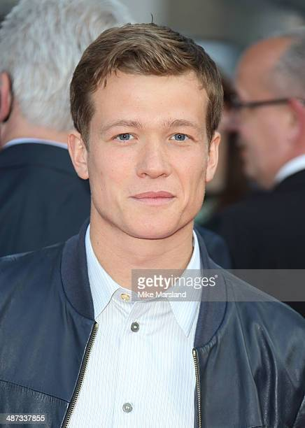 Ed Speleers attends the UK Premiere of 'Plastic' at Odeon West End on April 29 2014 in London England