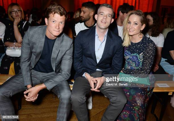 Ed Speleers Russell Tovey and Joanne Froggatt all wearing Paul Smith attend the Paul Smith SS19 Menswear Show during Paris Fashion Week at Elysee...