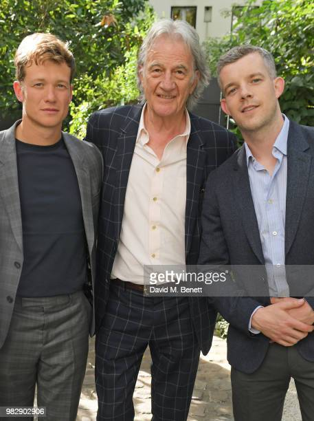 Ed Speleers Sir Paul Smith and Russell Tovey all wearing Paul Smith attend the Paul Smith SS19 VIP dinner during Paris Fashion Week at Hotel...