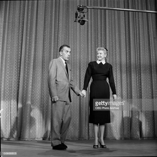 Ed Sullivan talks with Elaine Stritch on TOAST OF THE TOWN Image dated November 14 1954
