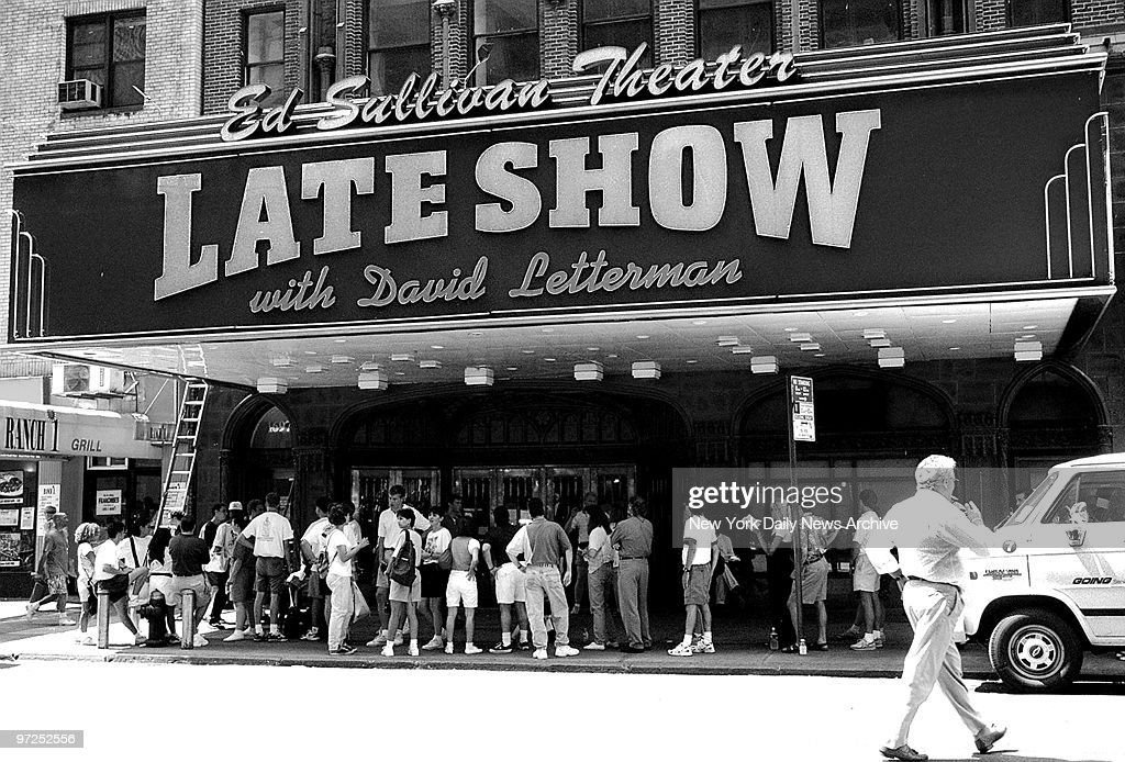Ed Sullivan Theater which is owned by CBS has the Late Show  : ニュース写真