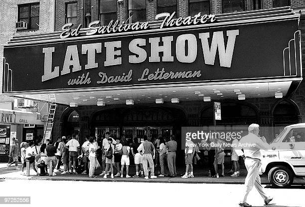 Ed Sullivan Theater which is owned by CBS has the Late Show with David Letterman.