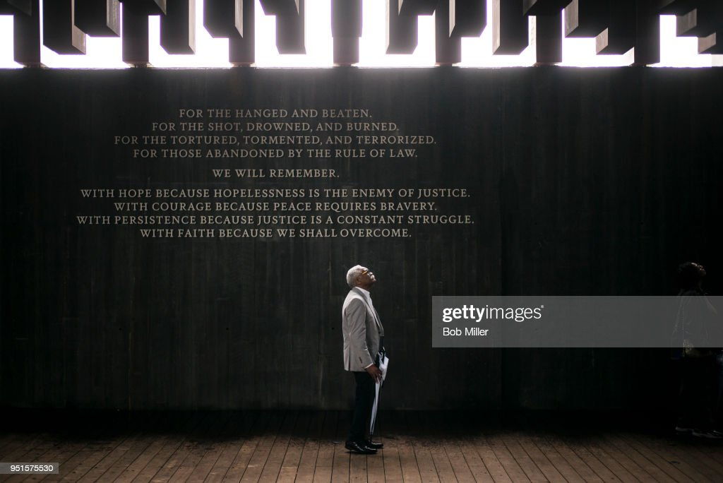 National Memorial For Peace And Justice Examines U.S. History Of Lynchings : News Photo