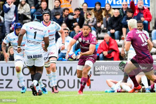 Ed Teofilo Fidow of Bordeaux during the French Top 14 match between Union Bordeaux Begles and Racing 92 at Stade ChabanDelmas on April 29 2018 in...