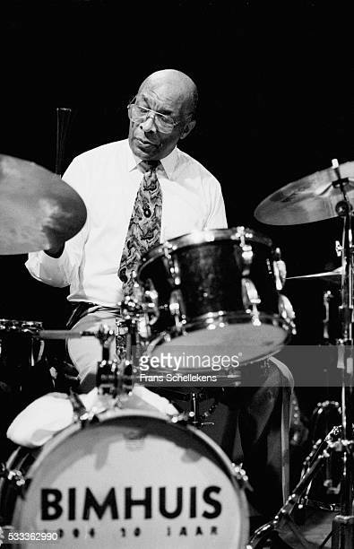 Ed Thigpen, drums, performs on March 11th 1995 at the BIM huis in Amsterdam, the Netherlands.