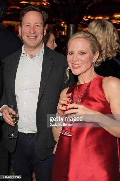 Ed Vaizey and Lucy Cleland attend the 'Country Town House Great British Brands' party at Annabel's on January 27 2020 in London England