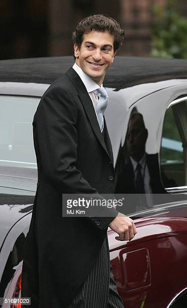 Ed Van Cutsem smiles as he leaves the service after marrying Lady Tamara Grosvenor at Chester Cathedral on November 6 2004 in Chester England Lady...