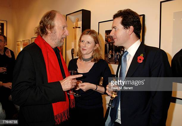 Ed Victor and George Osborne with wife attend a private view of photographs dedicated to Sir Eric Clapton to celebrate his latest book 'Eric Clapton...