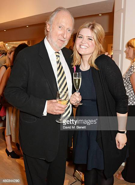 Ed Victor and Natasha Bardon attend the grand opening of the Foyles London flagship bookshop on Charing Cross Road on June 9 2014 in London England