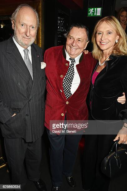 """Ed Victor, Barry Humphries and Lizzie Spender attend a reception in honour of """"La La Land"""" with Damien Chazelle, Emma Stone and Justin Hurwitz at The..."""