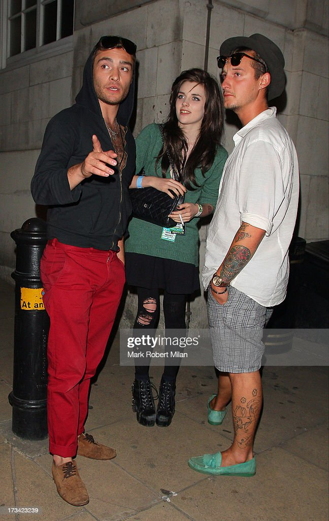 Ed Westwick and Charlotte Watts at Loulou's club on July 13, 2013 in London, England.