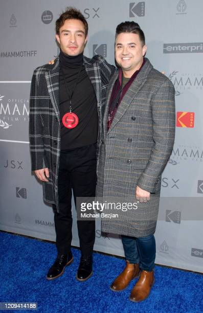Ed Westwick and Nick Hryciw arrive at the 3rd Annual Mammoth Film Festival Red Carpet Friday on February 28 2020 in Mammoth Lakes California