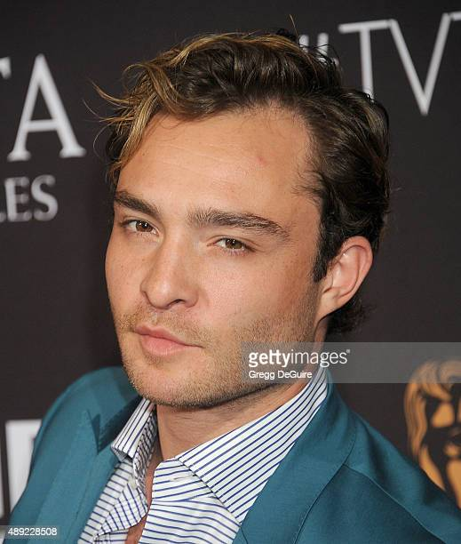 Ed Westwick arrives at the BAFTA Los Angeles TV Tea 2015 at SLS Hotel on September 19 2015 in Beverly Hills California