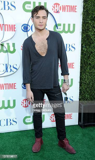 Ed Westwick arrives at the CBS The CW Showtime Summer Press Tour Party held at The Tent on July 28 2010 in Beverly Hills California