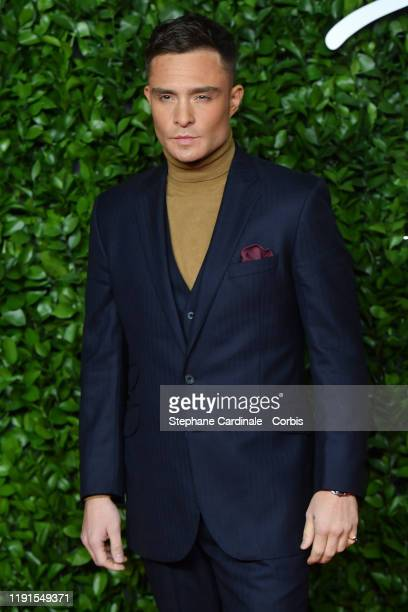 Ed Westwick arrives at The Fashion Awards 2019 held at Royal Albert Hall on December 02 2019 in London England