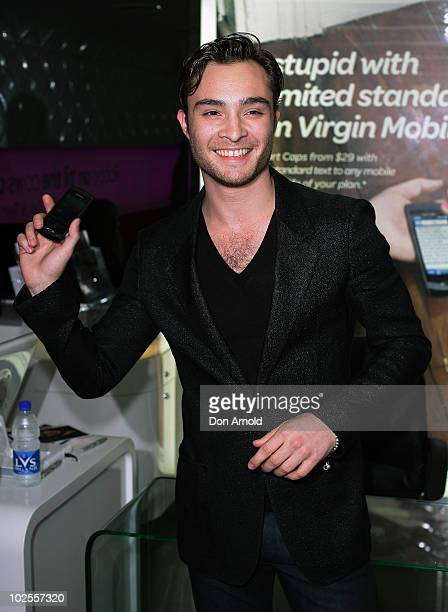 Ed Westwick attends an in-store signing at Virgin Mobile on July 1, 2010 in Sydney, Australia.