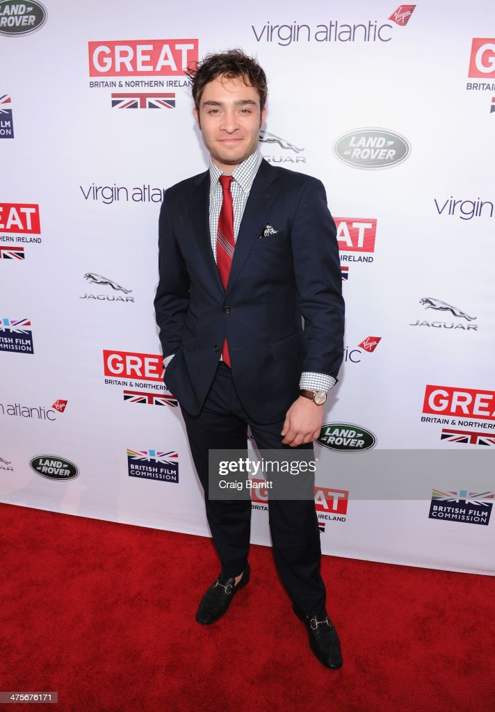 Ed Westwick attends the 2014 GREAT British Oscar Reception at British Consul General's Residence on February 28, 2014 in Los Angeles, California.