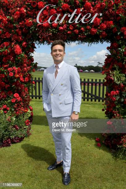 Ed Westwick attends The Cartier Queen's Cup Polo Final 2019 on June 16, 2019 in Windsor, England.