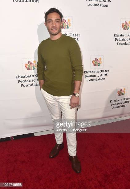 Ed Westwick attends the Elizabeth Glaser Pediatric Aids Foundation's 30th Anniversary A Time For Heroes Family Festival at Smashbox Studios on...