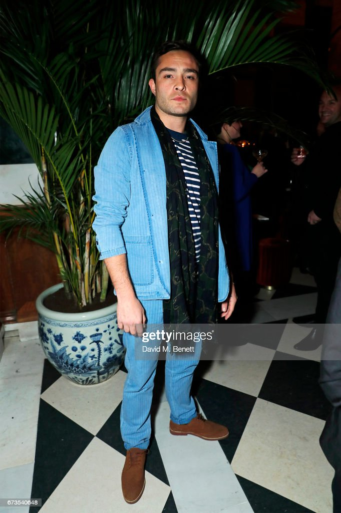 Ed Westwick attends the launch of The Ned, London on April 26, 2017 in London, England.