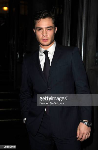 Ed Westwick attends the 'London Evening Standard British Film Awards' at the London Film Museum on February 7 2011 in London England