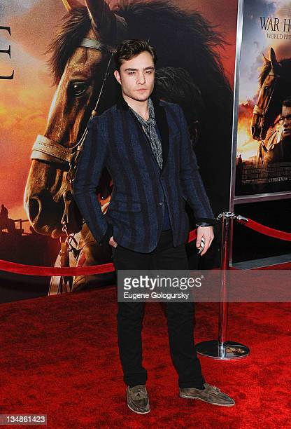 Ed Westwick attends the 'War Horse' world premiere at Avery Fisher Hall at Lincoln Center for the Performing Arts on December 4 2011 in New York City