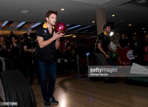Ed Westwick bowls at 3rd Annual Mammoth Film Festival Red Carpet Saturday on February 29 2020 in Mammoth Lakes California