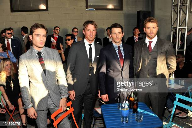 Ed Westwick, Brad Richards, James Marsden, and Kellan Lutz attend the Tommy Hilfiger Men's Spring 2012 fashion show during Mercedes-Benz Fashion Week...