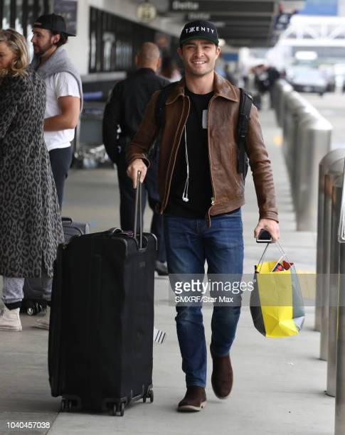 Ed Westwick is seen on September 25 2018 in Los Angeles CA