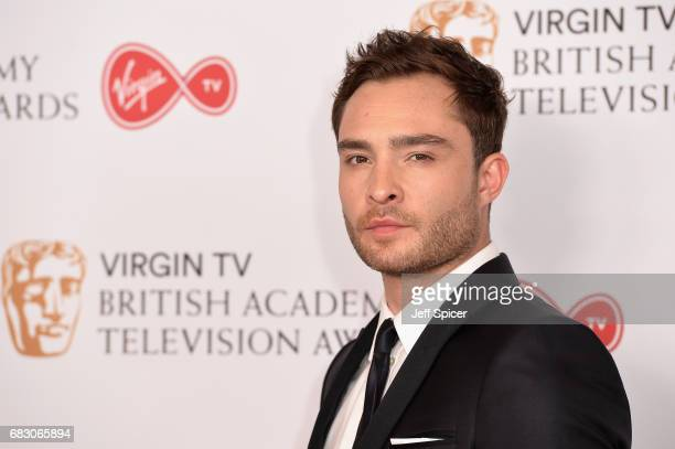 Ed Westwick poses in the Winner's room at the Virgin TV BAFTA Television Awards at The Royal Festival Hall on May 14 2017 in London England