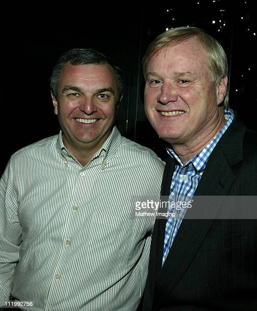 Ed Wilson NBC Enterprises President and Chris Matthews host of The Chris Matthews Show on MSNBC *Exclusive*