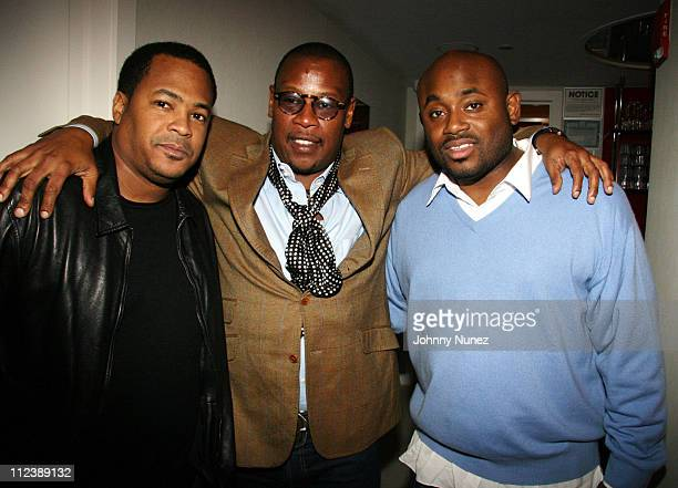 Ed Woods Andre Harrell and Steve Stoute during Cheri Dennis Album Listening Party Hosted by Sean P Diddy Combs April 12 2006 at G Spa and Lounge in...