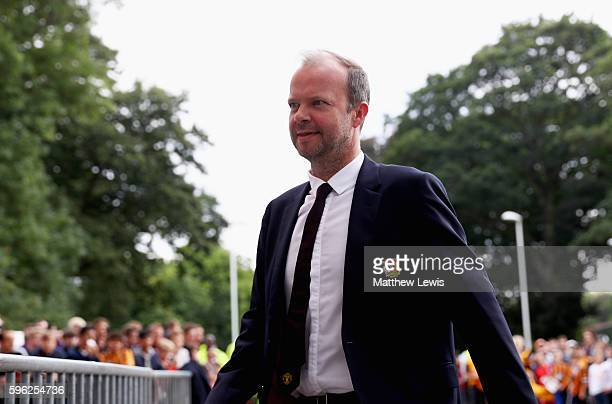 Ed Woodward arrives at the stadium during the Premier League match between Hull City and Manchester United at KCOM Stadium on August 27, 2016 in...