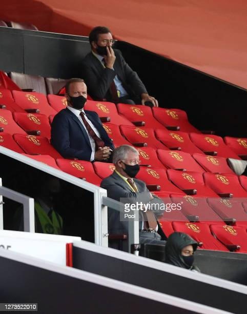 Ed Woodward, CEO of Manchester United looks on from the stands during the Premier League match between Manchester United and Crystal Palace at Old...