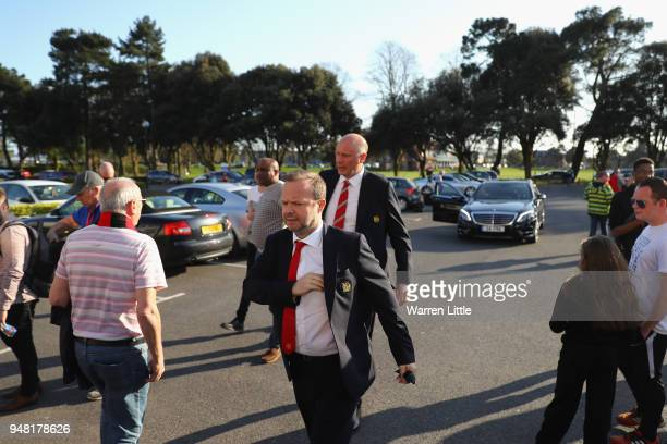 Ed Woodward, Executive Vice Chairman and Director of Manchester United arrives at the stadium prior to the Premier League match between AFC...