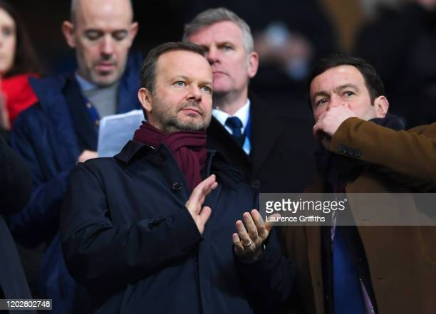 Ed Woodward executive vicechairman of Manchester United applauds from the crowd prior to the Carabao Cup Semi Final match between Manchester City and...